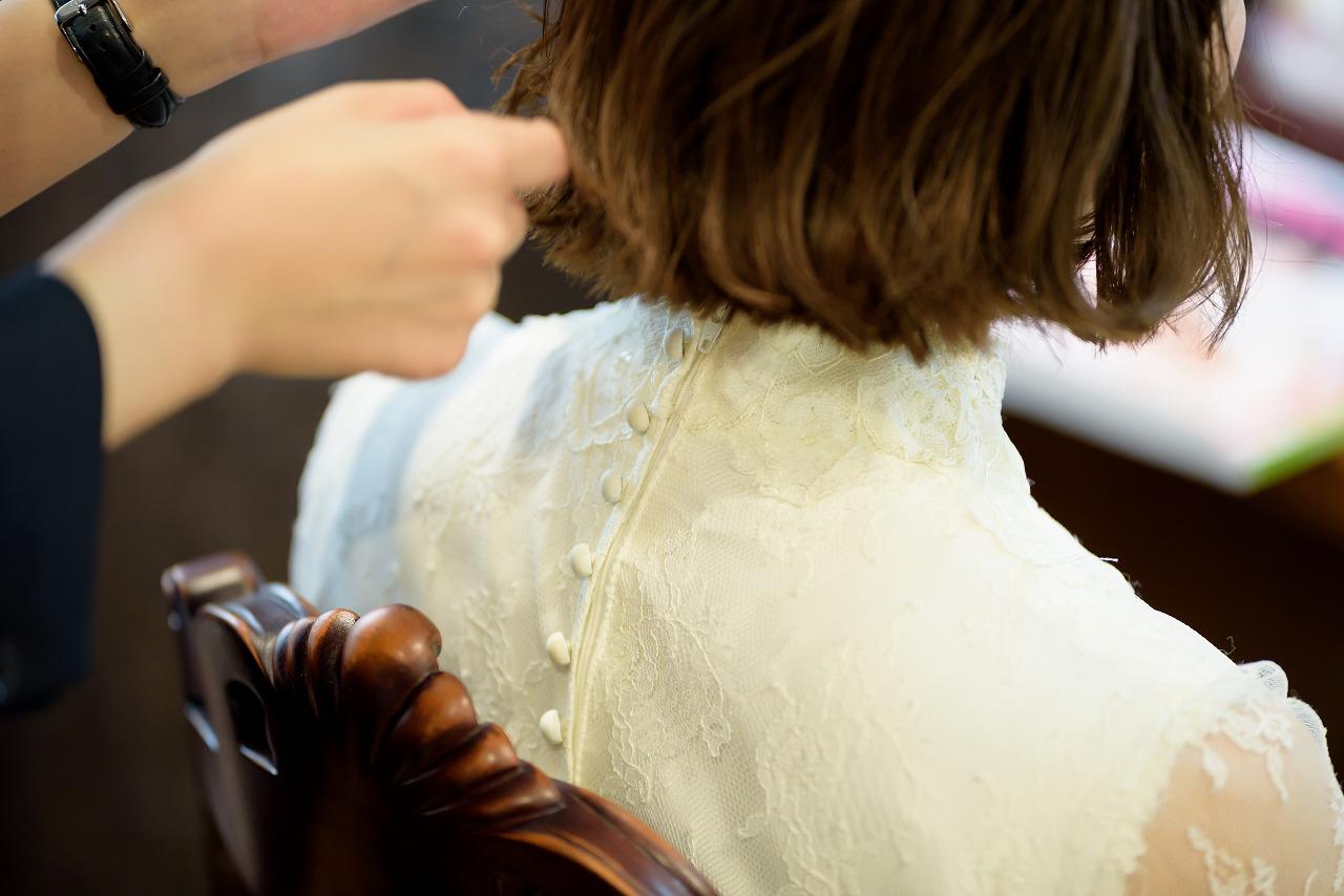 花嫁ヘア,ショートヘア,ショートボブ,ショート花嫁,ブライダルヘア,髪型,写真だけの結婚式,フォトウエディング