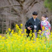 春の前撮り 和装ロケーション撮影(椿、河津桜、菜の花)の画像13