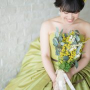 旧古河邸でウエディングドレス&萌黄色のカラードレスの画像21