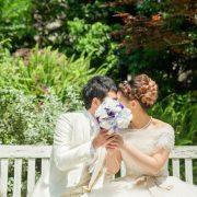白ドレスでチャペル×蜷川実花ドレスでロケーション撮影の画像6