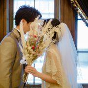 希少価値の高い洋館 日本工業倶楽部でヴィンテージドレスでのフォトウエディング