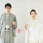 白無垢とトーク帽で洋装テイストの和装スタジオ撮影